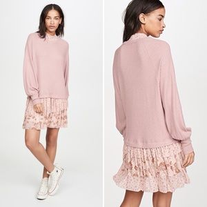 NWT Free People Opposite Attraction Mini Dress